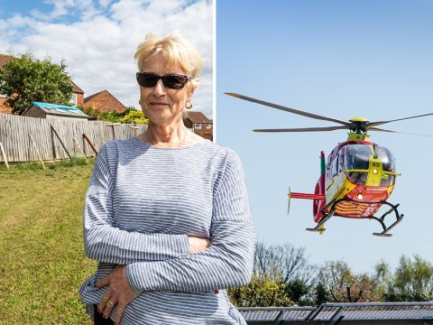 Neighbours injured when air ambulance took off next to their gardens
