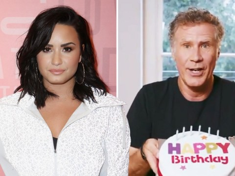 Demi Lovato celebrates 27th birthday on the set of Eurovision