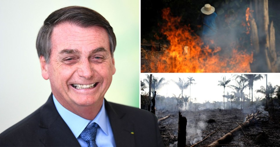 Brazil's president accuses NGOs of burning Amazon rainforest and gives no proof