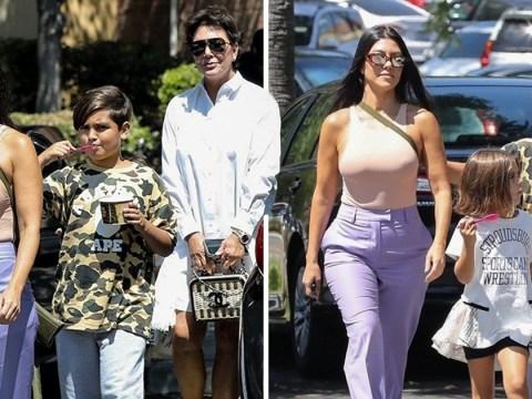 Kourtney Kardashian ignores vagina drama as she turns to Kris Jenner and her kids