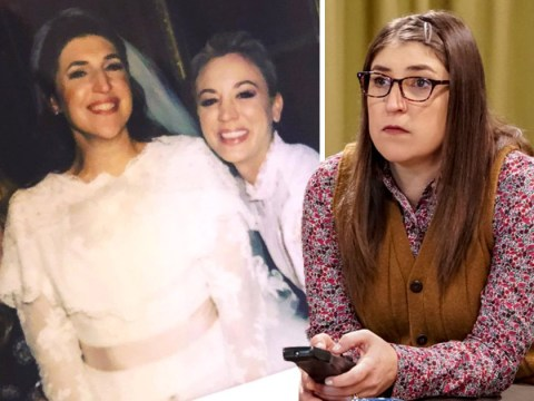 The Big Bang Theory's Mayim Bialik shares wedding throwback with Kaley Cuoco