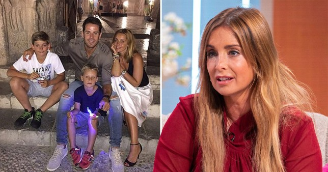 Louise Redknapp and family