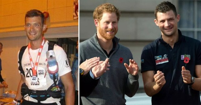 Prince Harry became good friends with Jules Roberts after the pair trained and completed a South Pole trek together (Picture: PA/JustGiving)