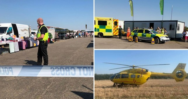 Police remain on the scene following the incident (Picture: BPM Media)