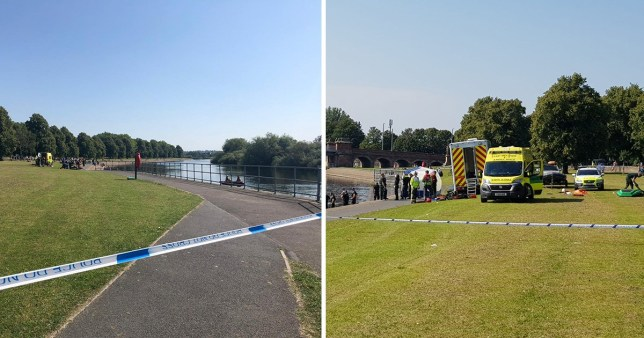 Police, fire and ambulances have rushed to the Victoria Embankment
