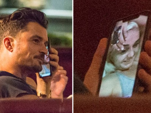 Orlando Bloom FaceTiming Katy Perry in public is just the cutest thing you'll see all day