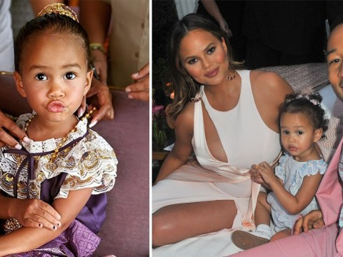 Chrissy Teigen's kids were wearing tiny Thai outfits and it's giving us baby fever