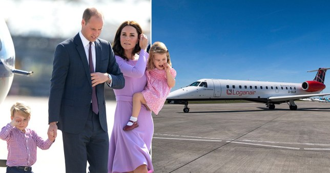 Kate Middleton and Prince William with family