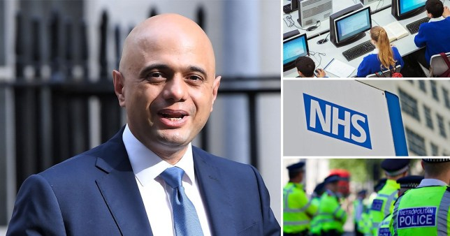 Sajid Javid announces spending boost for NHS, schools and police ahead of general election
