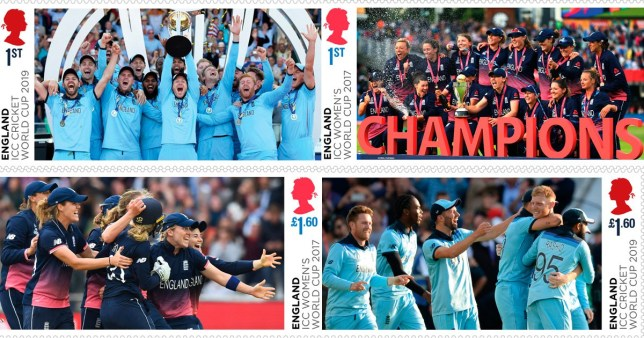 New Royal Mail stamps celebrating England's cricket world cup final wins will be released next month