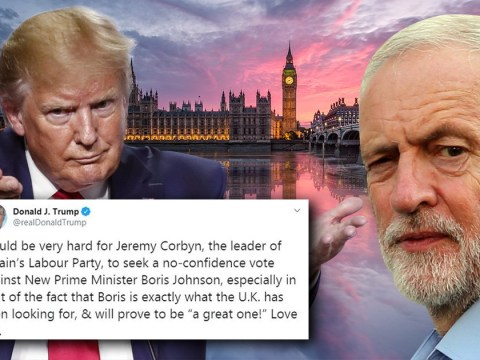Donald Trump says Jeremy Corbyn no-confidence vote in PM will be 'very hard'