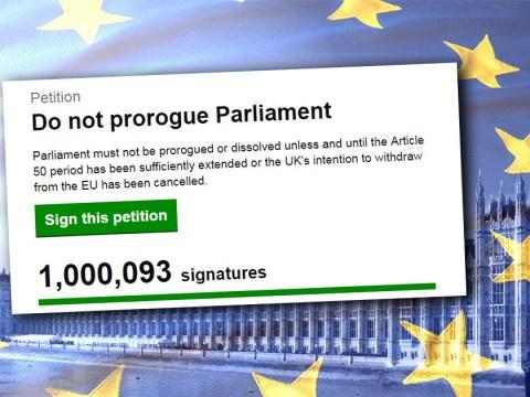 More than 1,000,000 sign petition to stop Boris Johnson suspending Parliament