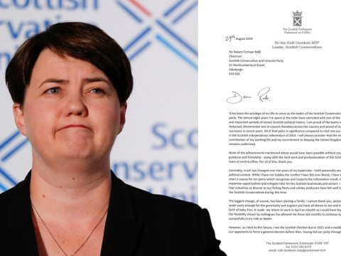 Ruth Davidson quits as Scottish Tory leader