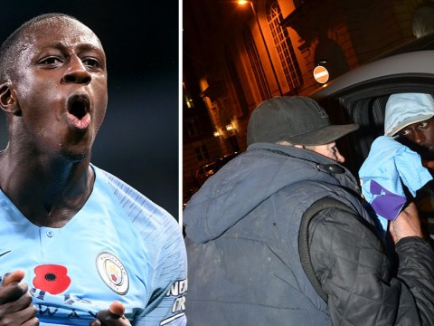 Man City's Benjamin Mendy donates shirt to homeless man who approaches him for change