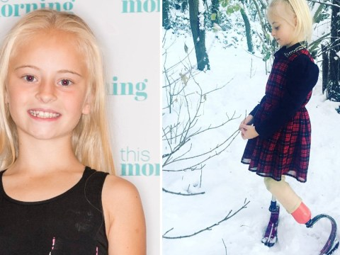 Seven-year old model with no legs takes on New York Fashion Week and Paris is up next