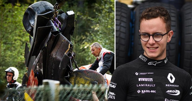 Image result for images of Formula 2 driver Anthoine Hubert, 22, is killed in a crash at the Belgium Grand Prix