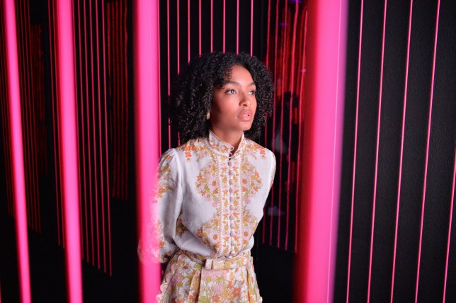 Yara Shahidi visits Audible's 'Stan Lee's Alliances: A Trick of Light' Experience at San Diego Comic-Con