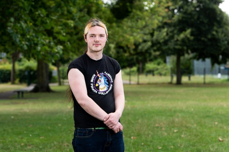 Patrick Day-Childs, who suffers from complex regional pain syndrome in his right arm