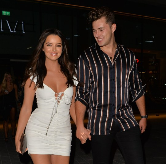 Love islanders Tommy Fury , Molly-Mae Hague , Curtis Pritchard , Maura Higgins seen leaving VIVI restaurant , London joined by Aj Pritchard and girlfriend Abbie Quinnen Pictured: Curtis Pritchard,Maura Higgins Ref: SPL5107429 040819 NON-EXCLUSIVE Picture by: PALACE LEE / SplashNews.com Splash News and Pictures Los Angeles: 310-821-2666 New York: 212-619-2666 London: 0207 644 7656 Milan: +39 02 56567623 photodesk@splashnews.com World Rights,