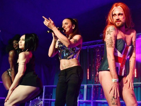 Mel C performs with drag queen Spice Girls at Brighton Pride and it is everything