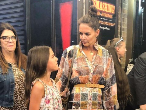Katie Holmes takes Suri Cruise on adorable mother-daughter date as they watch Moulin Rouge