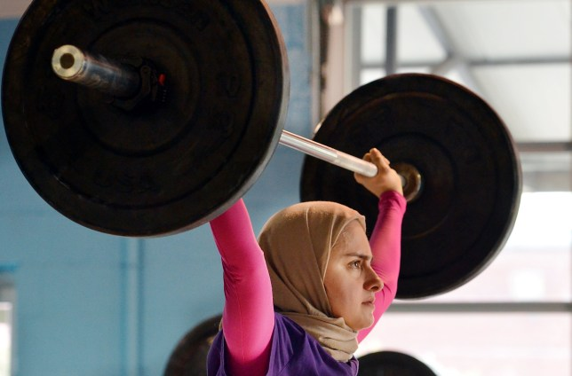 Kulsoom Abdullah trains at Crossfit gym in Atlanta