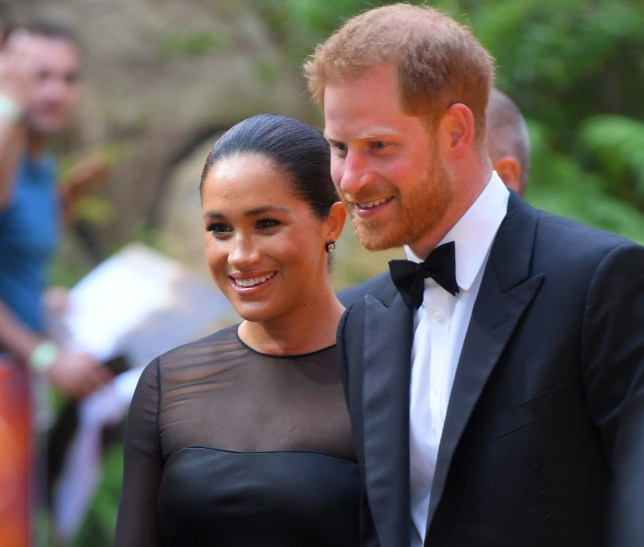 Mandatory Credit: Photo by David Fisher/REX/Shutterstock (10332765bx) Prince Harry and Meghan Duchess of Sussex 'The Lion King' film premiere, London, UK - 14 Jul 2019