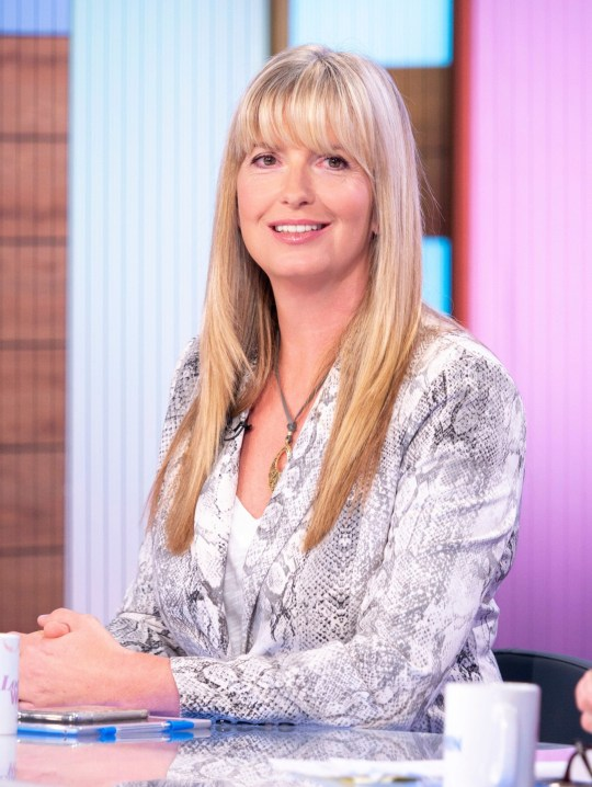 Editorial use only Mandatory Credit: Photo by S Meddle/ITV/REX (10355857al) Penny Lancaster 'Loose Women' TV show, London, UK - 07 Aug 2019