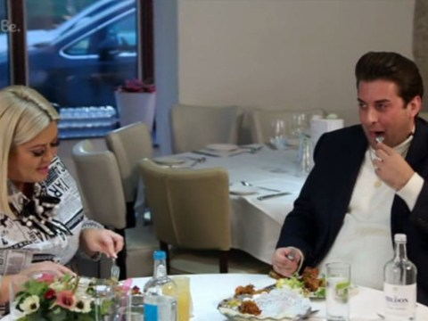 Gemma Collins wants Arg's weight 'back on track' as she points out 'extra pudding around the middle'
