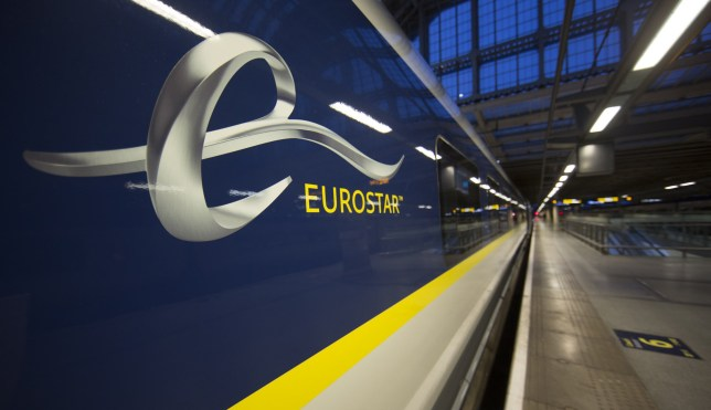 The new Eurostar Train e320 is seen at St Pancras Station during a press day launch, in central London on November 13, 2014
