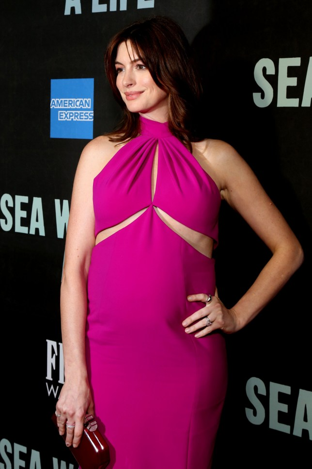 Opening night for Sea Wall / A Life at the Hudson Theatre - Arrivals. Featuring: Anne Hathaway Where: New York, New York, United States When: 09 Aug 2019 Credit: Joseph Marzullo/WENN.com