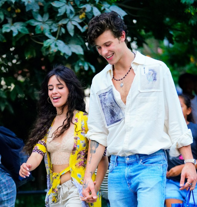 NEW YORK, NY - AUGUST 08: Camila Cabello and Shawn Mendes are seen on his 21st birthday on August 8, 2019 in New York City. (Photo by Gotham/GC Images)
