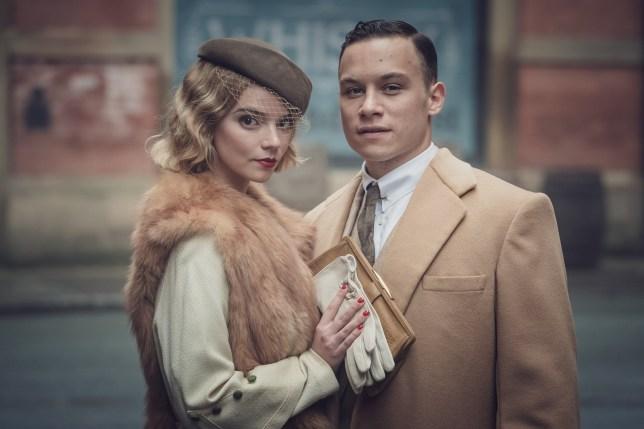 Anya Taylor-Joy and Finn Cole in Peaky Blinders season 5