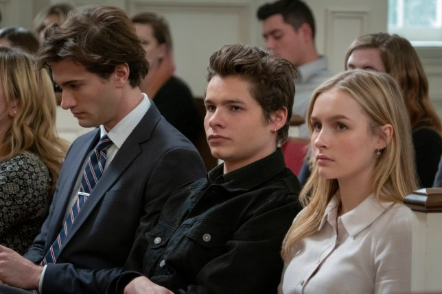 The Society - Elle and Campbell at town meeting