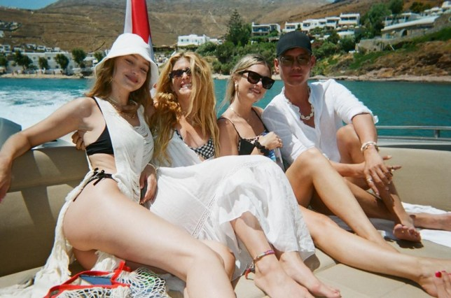 Gigi Hadid relaxes on holiday in Mykonos