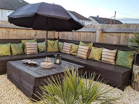 Thrifty woman impresses Facebook with a DIY outdoor furniture set made for just £22
