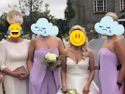Bride chose purple jumpsuits for her bridemaids – but people say they 'look like vulvas'