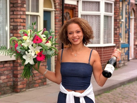 Why did Angela Griffin's character Fiona Middleton leave Coronation Street?