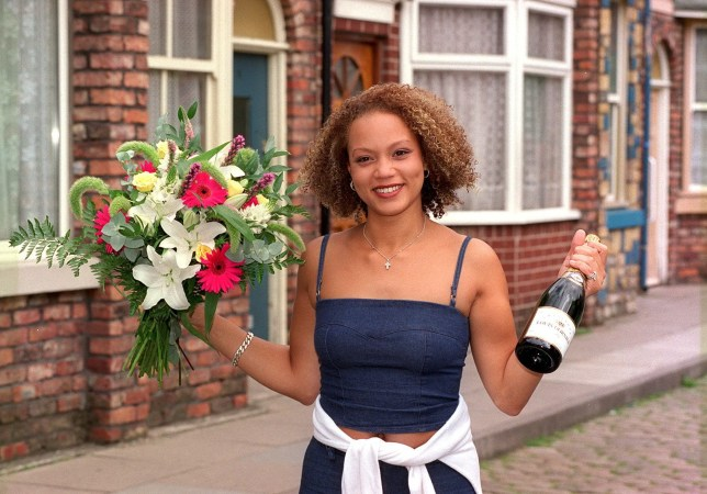 Angela Griffin as Fiona Middleton on Coronation Street