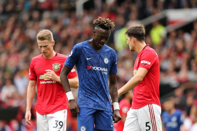 Tammy Abraham was unable to find the net in Chelsea's defeat to Manchester United