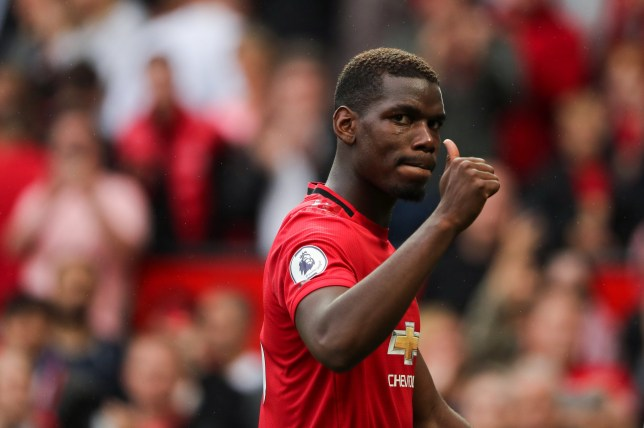 MANCHESTER, ENGLAND - AUGUST 11: Paul Pogba of Manchester United at full time of the Premier League match between Manchester United and Chelsea FC at Old Trafford on August 11, 2019 in Manchester, United Kingdom. (Photo by Matthew Ashton - AMA/Getty Images)