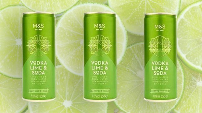 The vodka lime and soda