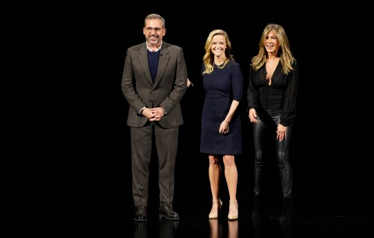 Steve Carell, Reese Witherspoon and Jennifer Aniston The Morning Show