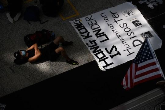 Hong Kong airport protestors
