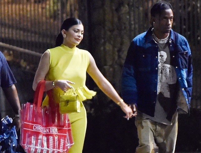 Kylie Jenner and boyfriend Travis Scott on a date night on holiday in Portofino