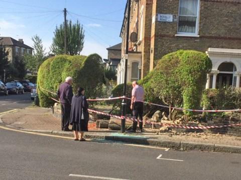 Famous topiary elephant beheaded in London car crash