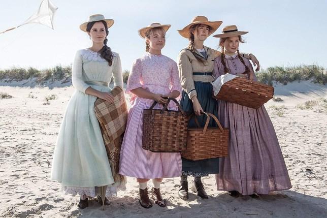 Cast of Little Women, including Emma Watson, Florence Pugh., and Saoirse Ronan