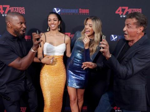 Jamie Foxx and Sylvester Stallone share proud dad moment as they take selfies with daughters on red carpet