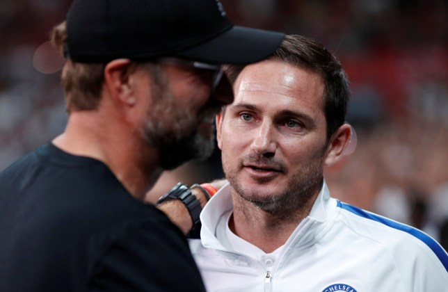 Soccer Football - UEFA Super Cup - Liverpool v Chelsea - Vodafone Arena, Istanbul, Turkey - August 14, 2019 Liverpool manager Juergen Klopp with Chelsea manager Frank Lampard before the match Action Images via Reuters/John Sibley