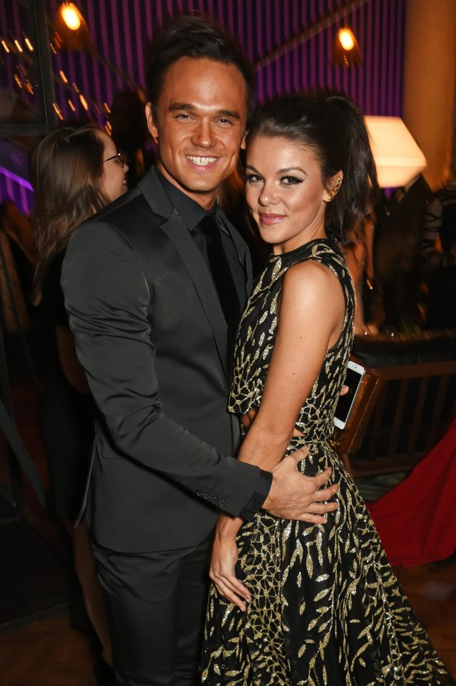 LONDON, ENGLAND - JANUARY 25: Gareth Gates (L) and Faye Brookes attend the National Television Awards cocktail reception at The O2 Arena on January 25, 2017 in London, England. (Photo by David M. Benett/Dave Benett/Getty Images )